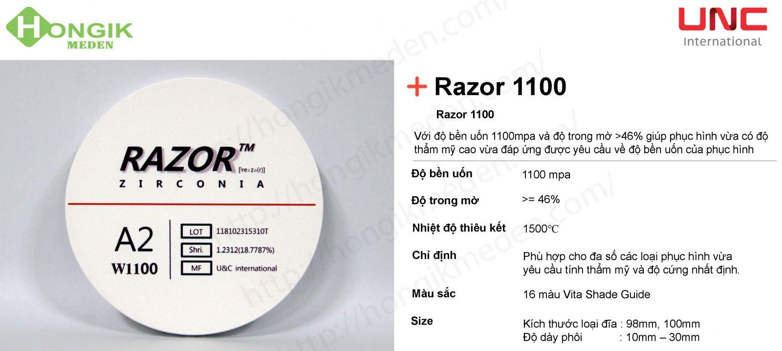 phôi trong Razor 1100