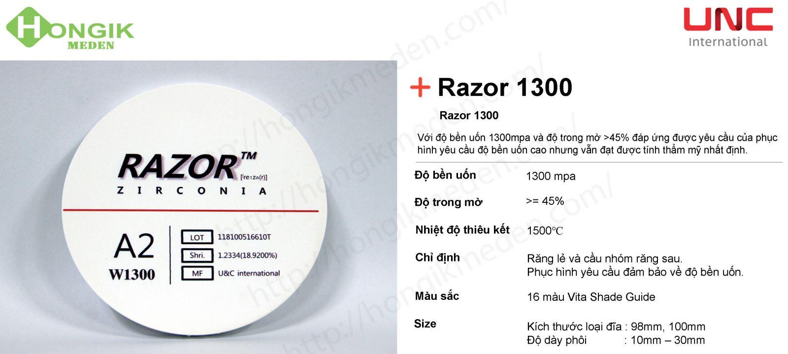 phôi trong Razor 1300