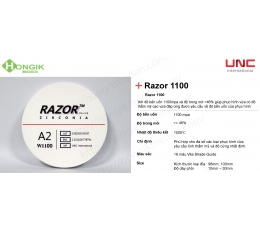 Phôi trong Razor 1100 MPa - UNC International
